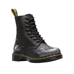 Dr. Martens 1460 Pascal Flame 24034041 (PEWTER / BLACK GLITTER)