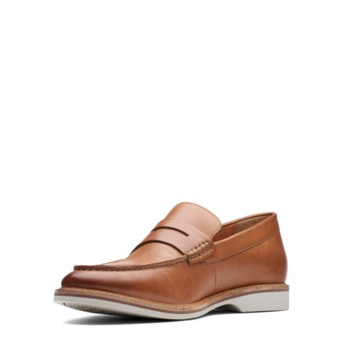 Clarks Atticus Free-Tan Leather