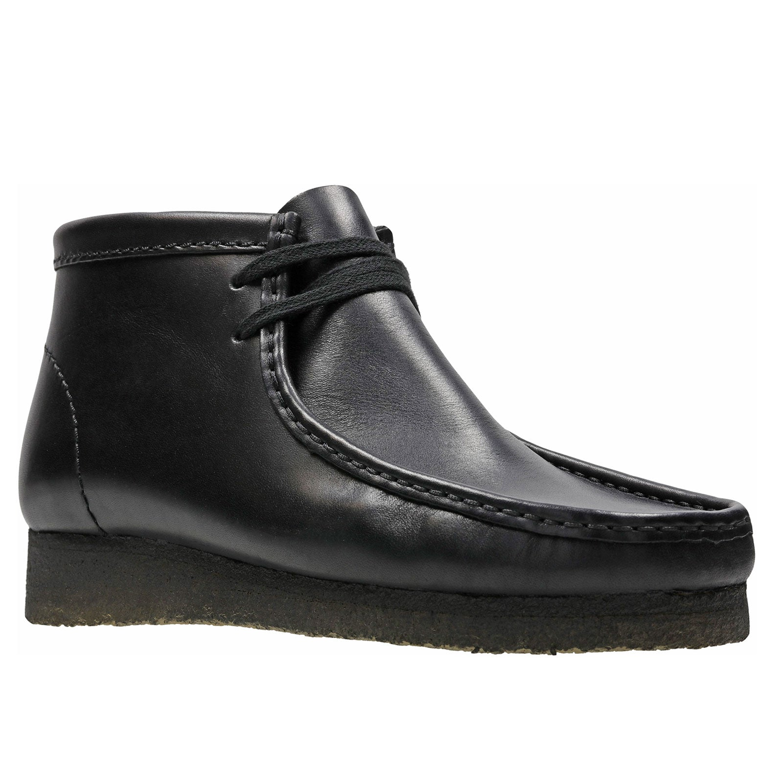 Clarks Wallabee Boot 55512 (Black Leather)