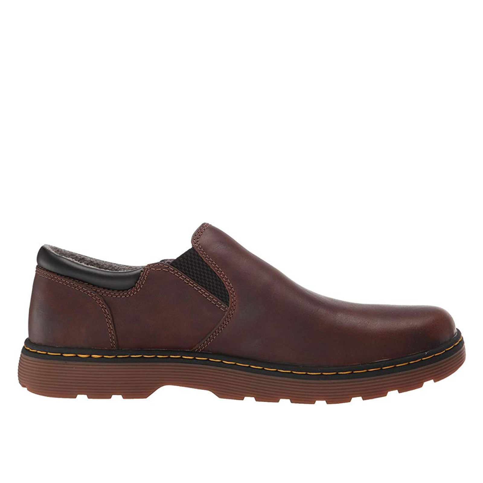 Dr. Martens Tipton Slip On 25266201 (Dark Brown and Black Forty Pu)
