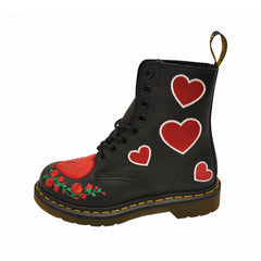 Dr. Martens 1460 Pascal Sequin Heart 24406001 (Black)