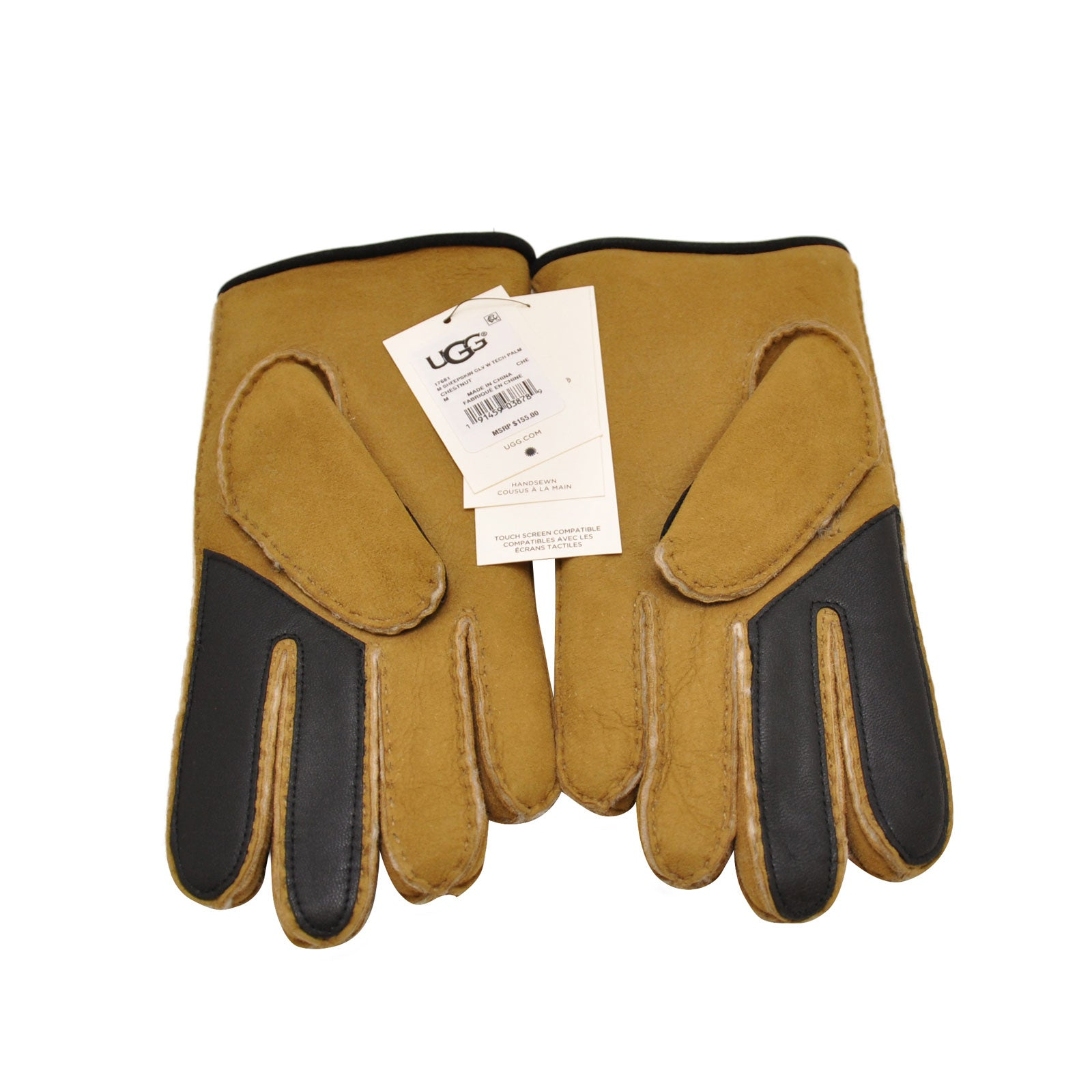 UGG® Sheepskin Glove W/ Tech Palm-Chestnut