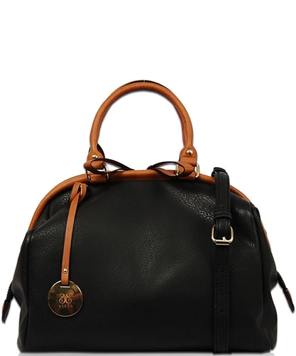 Tuya Leather Tote Bag-Black