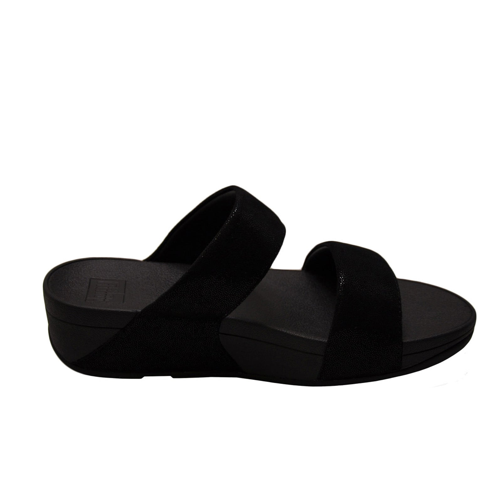 Fitflop Shimmy Suede Slide  -Black