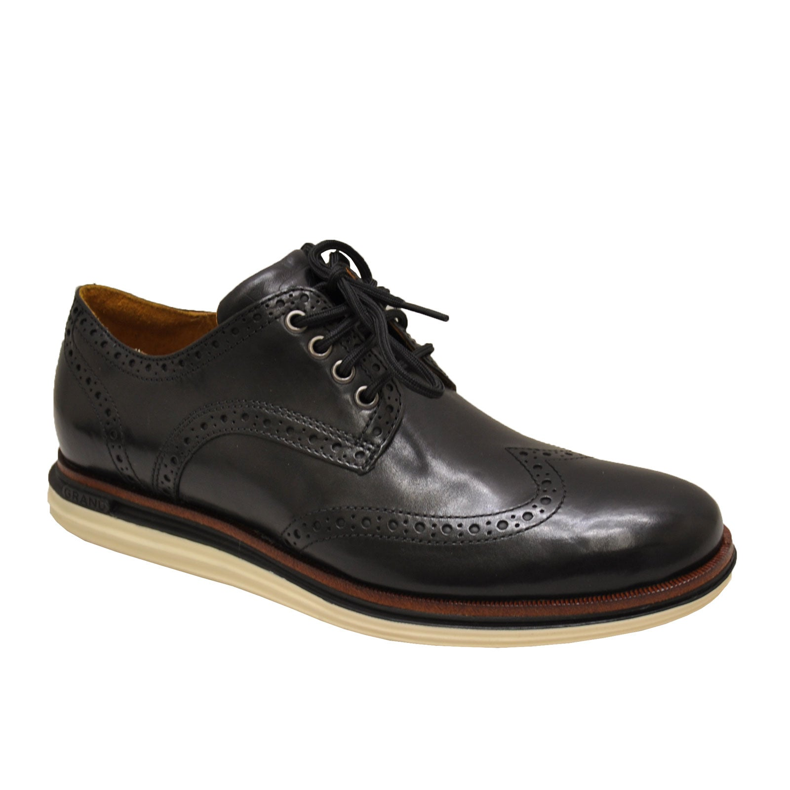 Cole Haan Original Grand Lux Wingtip C31545 (Black Leather/Ivory)
