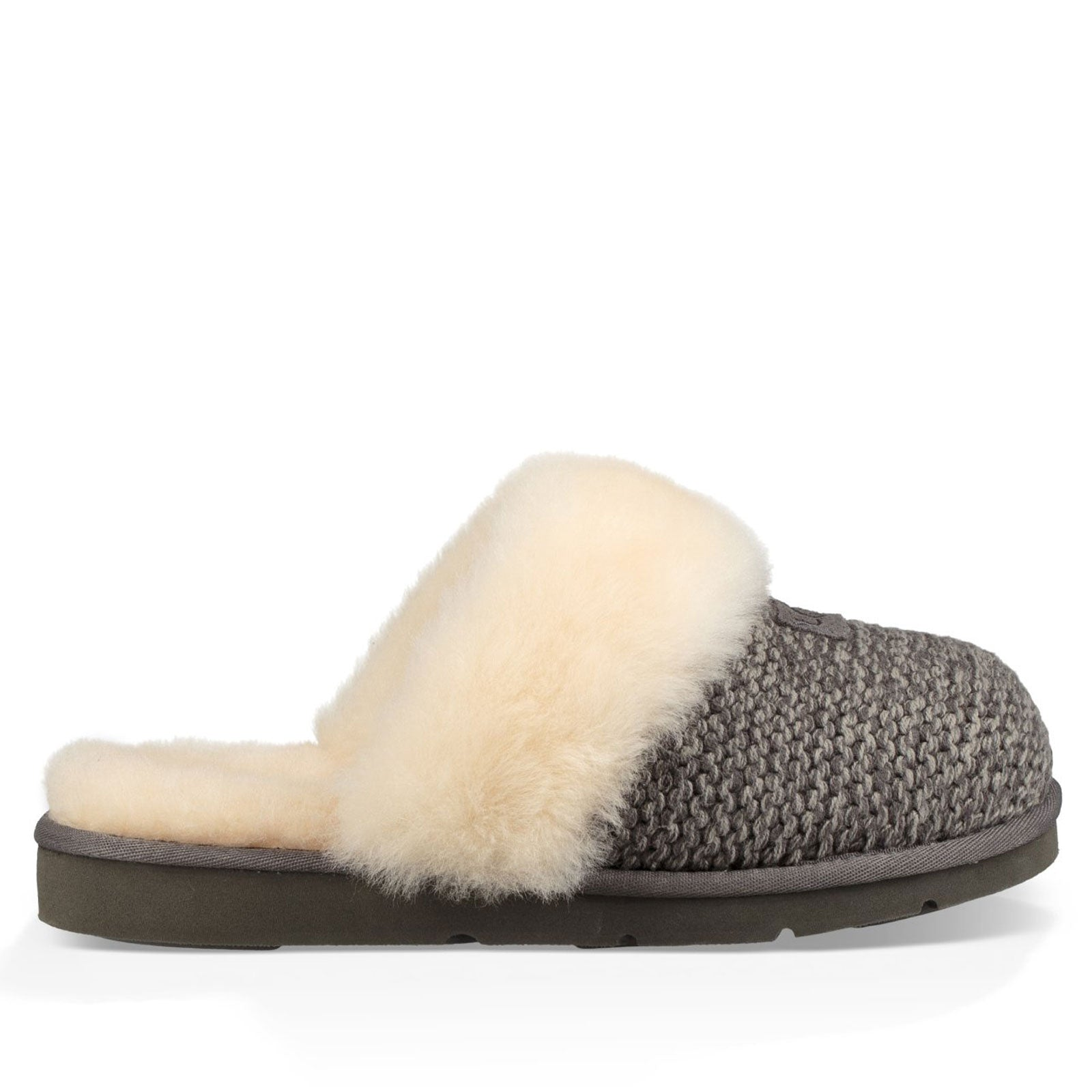 UGG® Cozy Knit Slippers-Charcoal