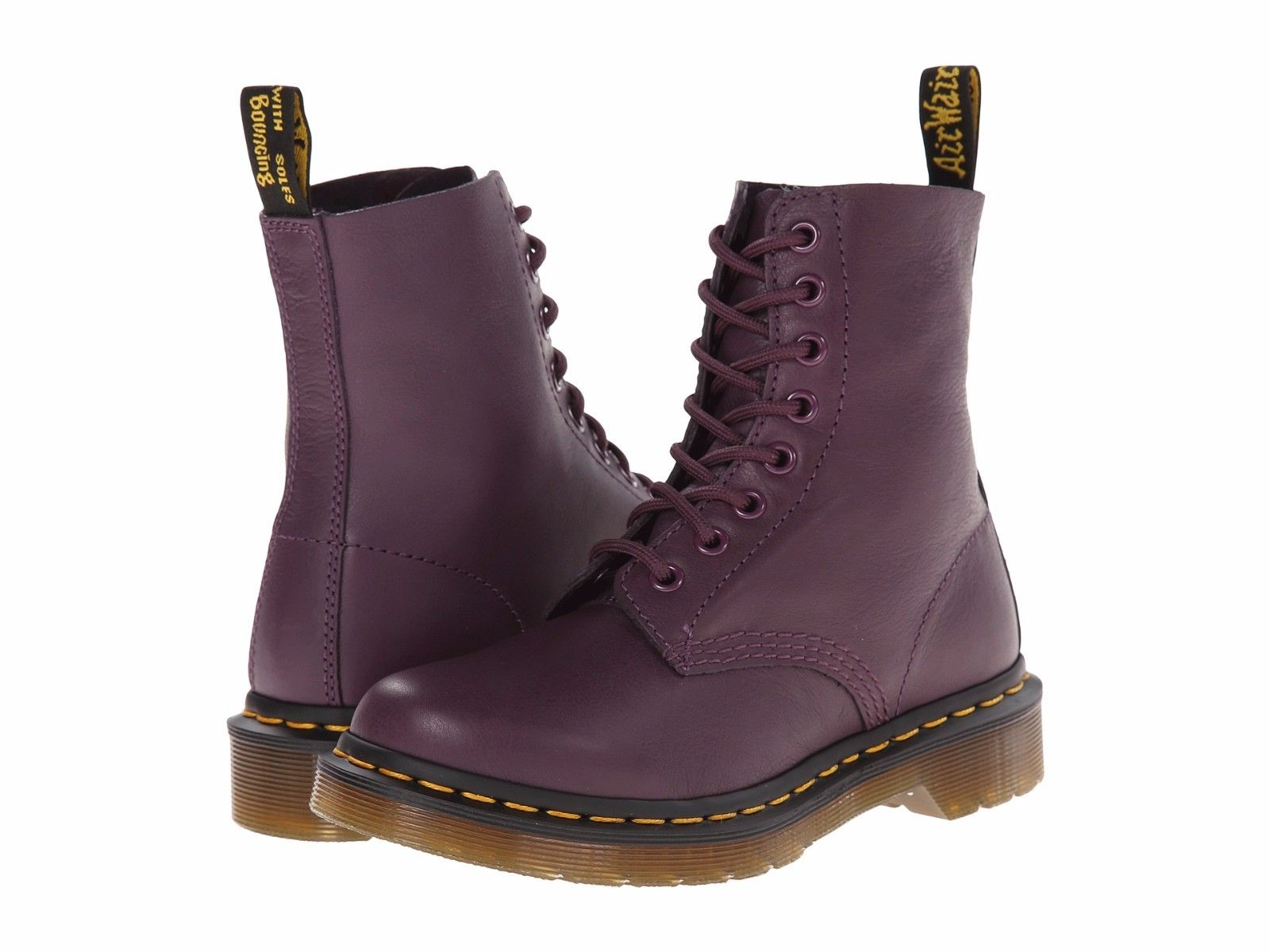 Dr. Martens Pascal 8 Eye Boot-Purple Virginia