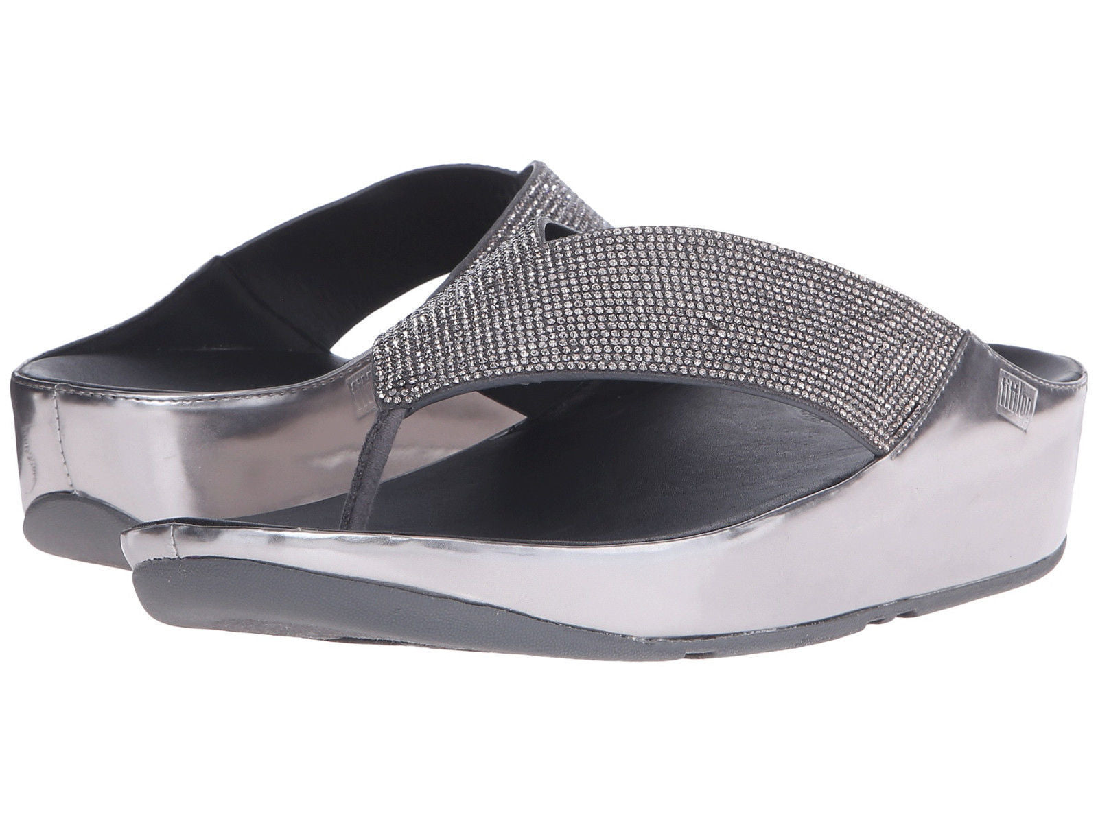 Fitflop Crystall Toe Post - Pewter