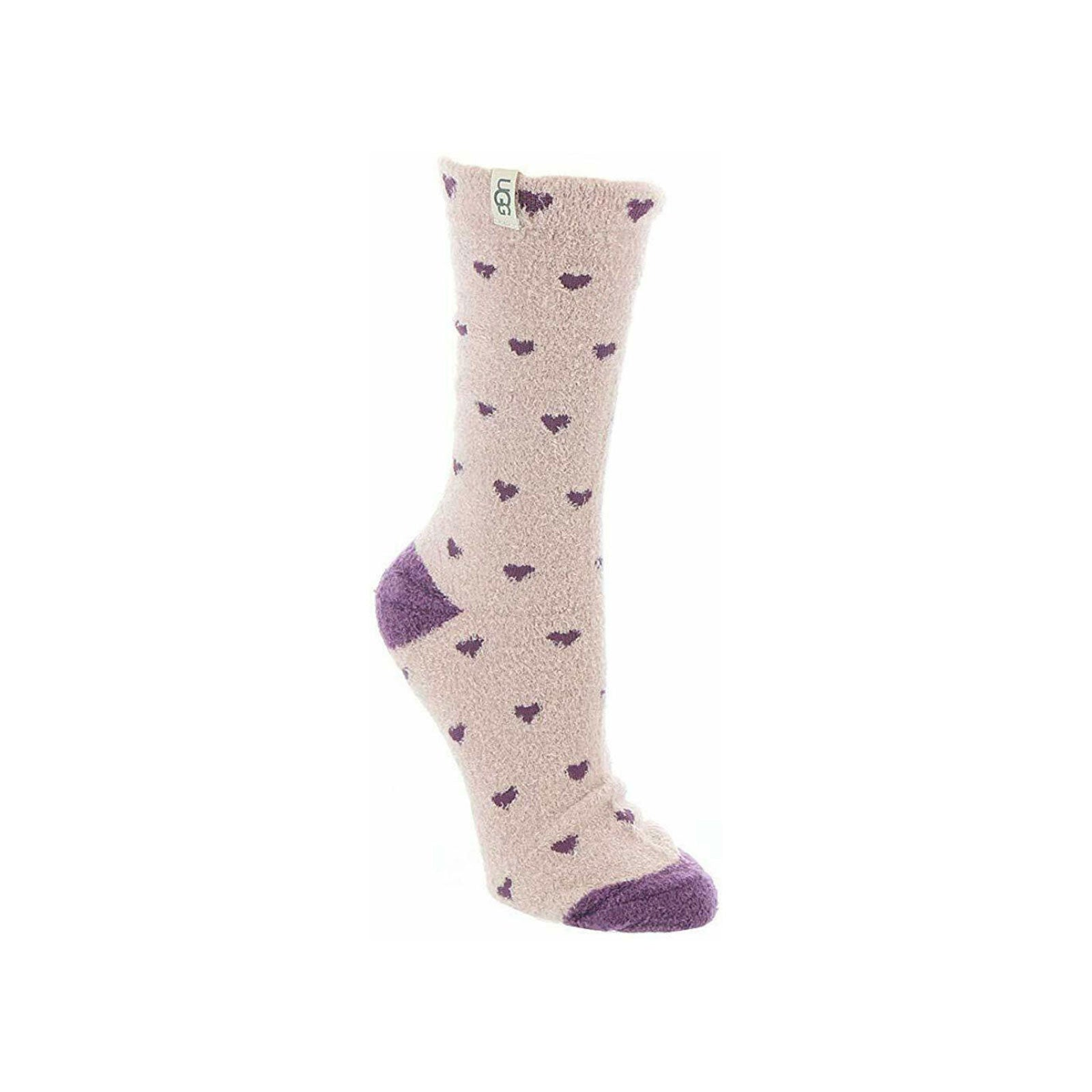 UGG Leslie Graphic Crew Sock-Hearts
