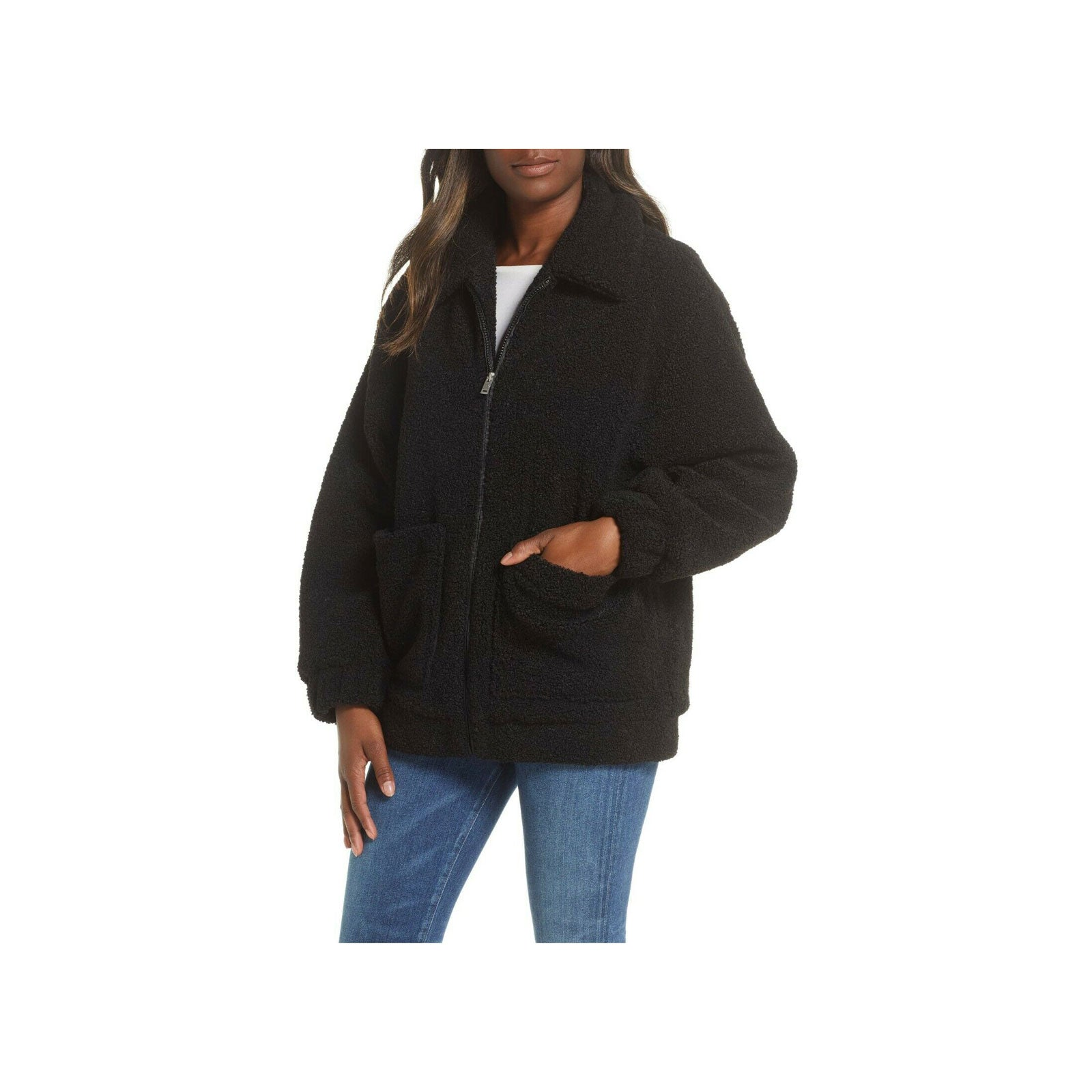 UGG Jackeline Teddy Bear Jacket- Black