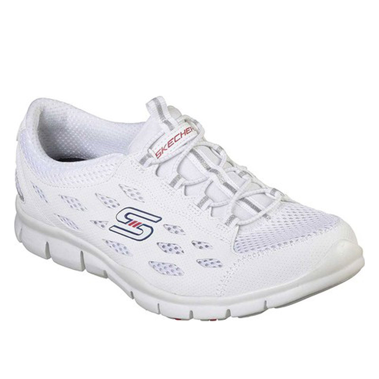 Skechers Flex Gratis-No-White/Navy/Red