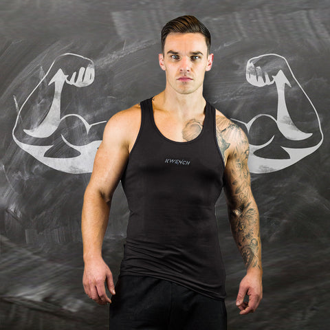 Mens Yoga & Gym Workout Stringer | Hunk | Black