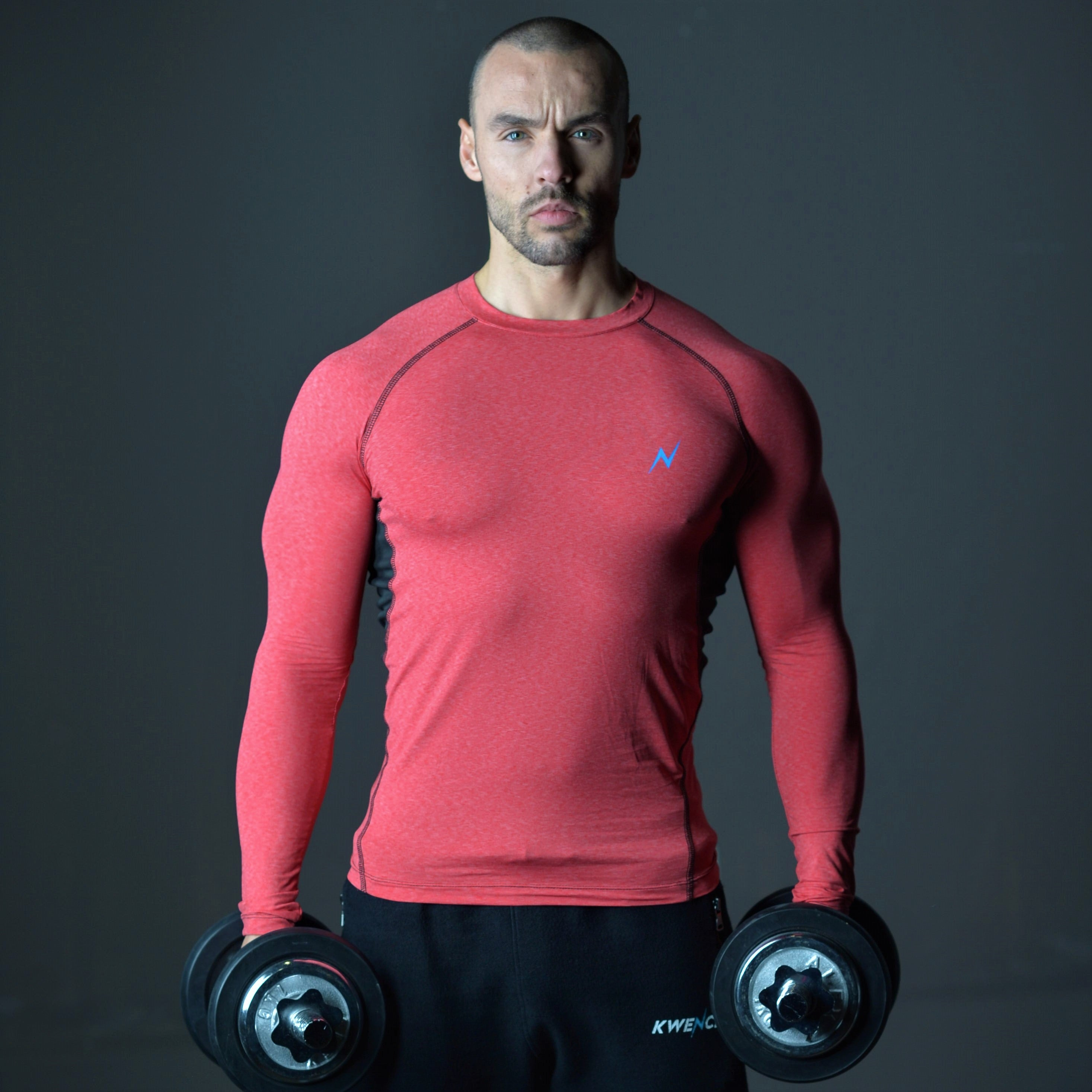 Mens Long Sleeve | Yoga , Gym & Fitness T-Shirt | Crux | Red