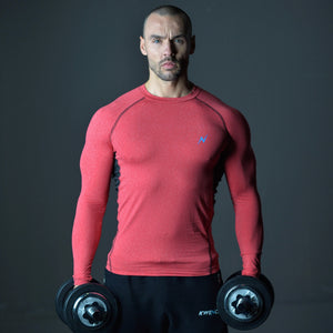 Mens Long Sleeve | Yoga , Gym & Fitness T-Shirt | Crux | Red Thumbnails-6
