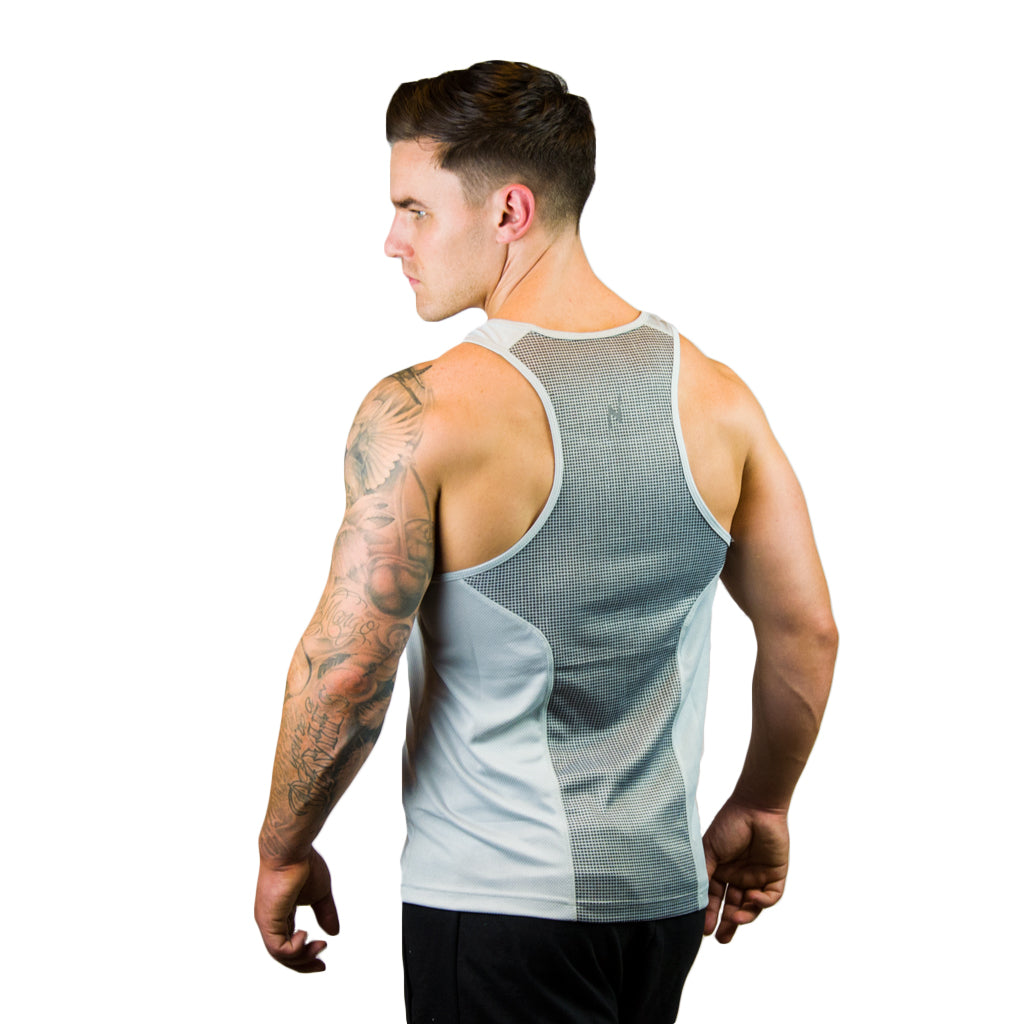 Kwench Mens Gym yoga workout Vest Tank Stringer