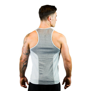 Kwench Mens Gym yoga workout Vest Tank Stringer Thumbnails-5