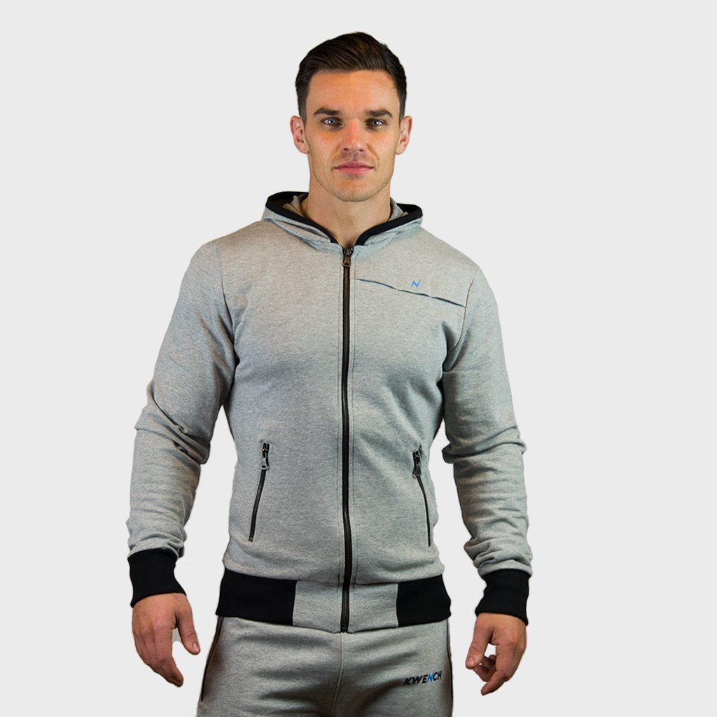 Kwench Mens Gym Fitness Athleisure Workout Hoodie