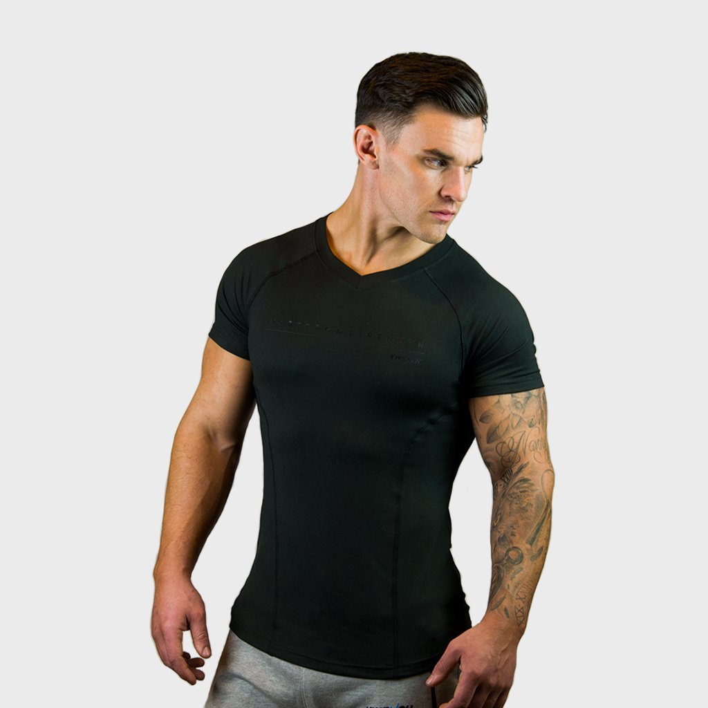 Kwench Mens Gym Workout body Fit Tshirt