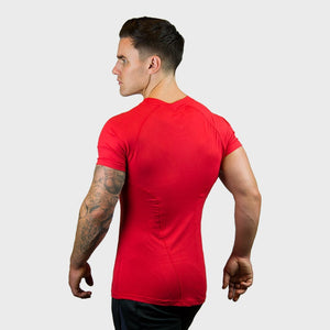 Vibe Body Fit T-Shirt | Red Thumbnails-2