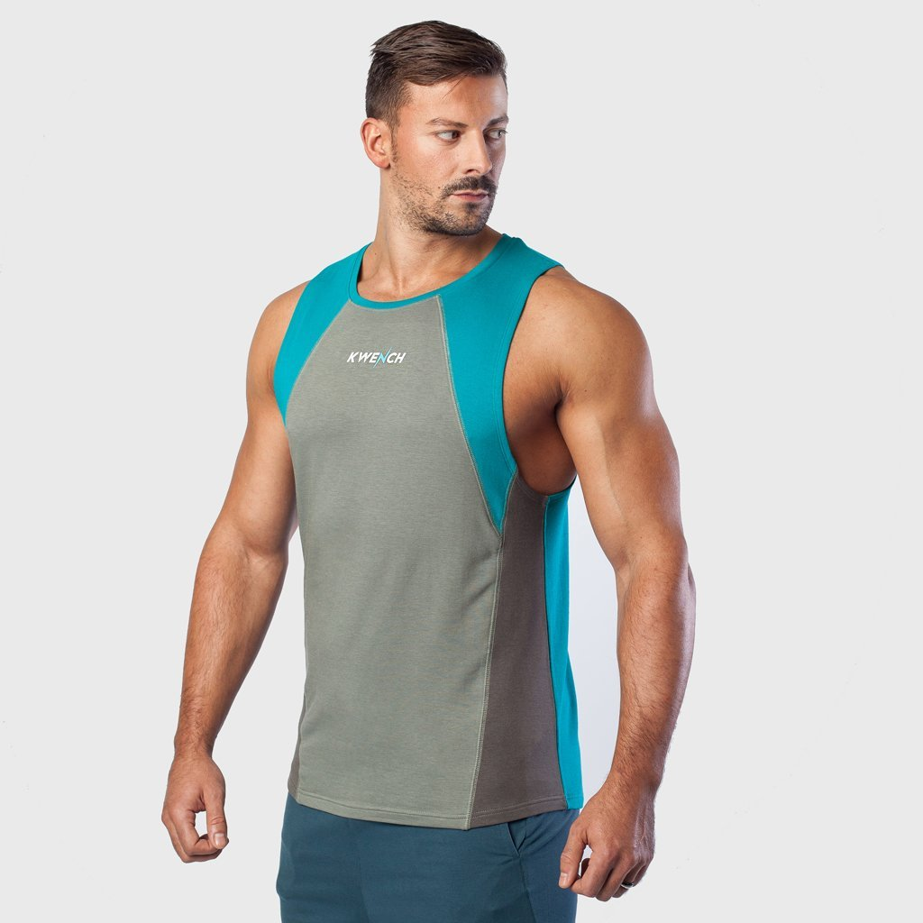 Kwench Mens Gym Vest Tank Stringer