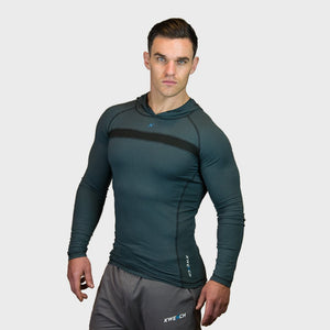 Kwench Crux Mens long sleeve Gym Yoga Workout Tshirt hoodie  Main-image