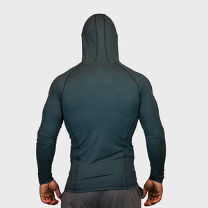 Kwench Crux Mens long sleeve Gym Yoga Workout Tshirt hoodie  Thumbnails-2