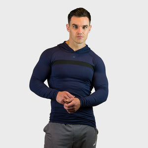 Kwench Crux Mens long sleeve moisture wicking Tshirt with hood Main-image