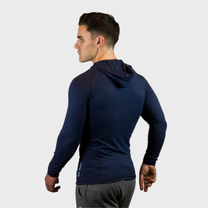 Kwench Crux mens long sleeve moisture wicking Tshirt with hood Thumbnails-2