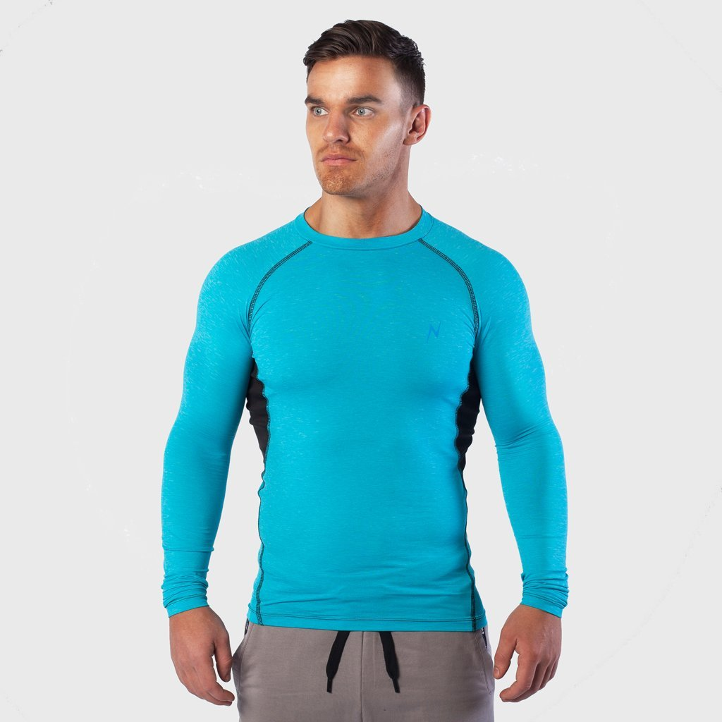 Kwench Mens Long Sleeve moisture wicking Tshirt