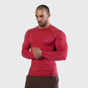 Mens long Sleeve Gym yoga fitness workout  Tshirt Thumbnails-3