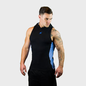 Kwench Mens Gym workout Fitness Sleeveless hoodie Thumbnails-1
