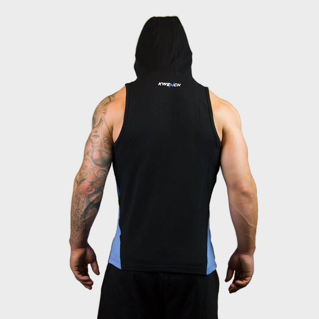 Kwench Mens Gym workout Fitness Sleeveless hoodie