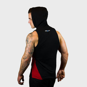 Kwench Mens Gym workout Fitness Sleeveless hoodie Thumbnails-2