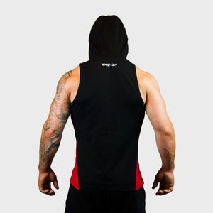 Kwench Mens Gym workout Fitness Sleeveless hoodie Thumbnails-3