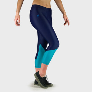Kwench Womens Crop Gym Fitness Leggings  Thumbnails-1