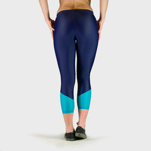 Kwench Womens Crop Gym Fitness Leggings  Thumbnails-2