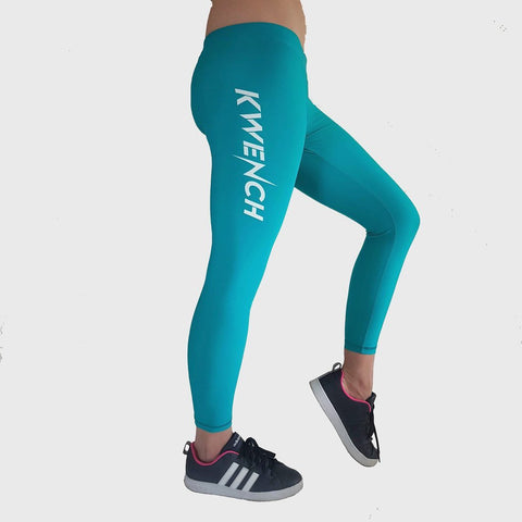 Kwench Womens Yoga Gym Fitness workout Squat proof Crop  Leggings