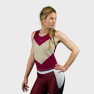 Kwench Womens Gym Workout top vest Thumbnails-1