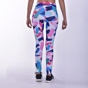Kwench womens printed gym workout leggings  Thumbnails-3