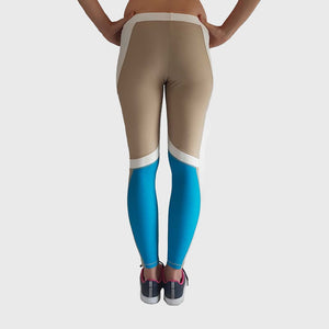 Flex Leggings | Brown - Blue Thumbnails-2