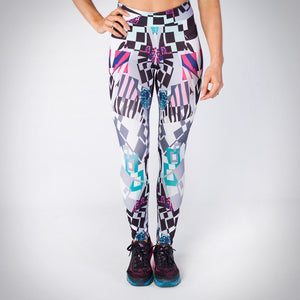 Kwench womens printed gym workout leggings  Main-image