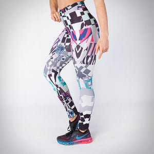 Kwench womens printed gym workout leggings  Thumbnails-1