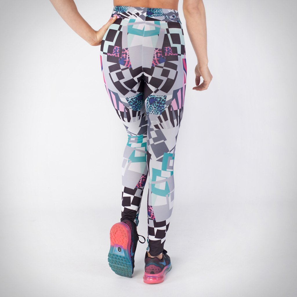 Kwench womens printed gym workout leggings