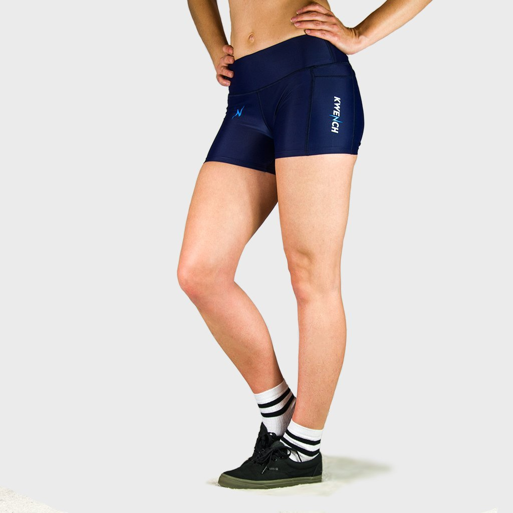 Kwench Womens Gym workout Shorts with mobile pocket