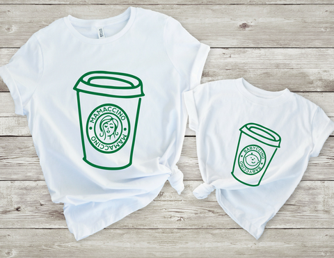 MAMACCINO AND BABACCINO tshirt set