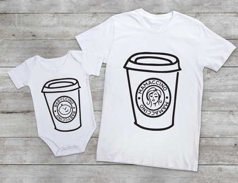 BABACCINO AND MAMACCINO baby-grow SET