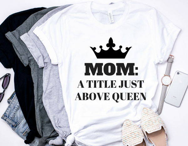 Title Above Queen  T-shirt