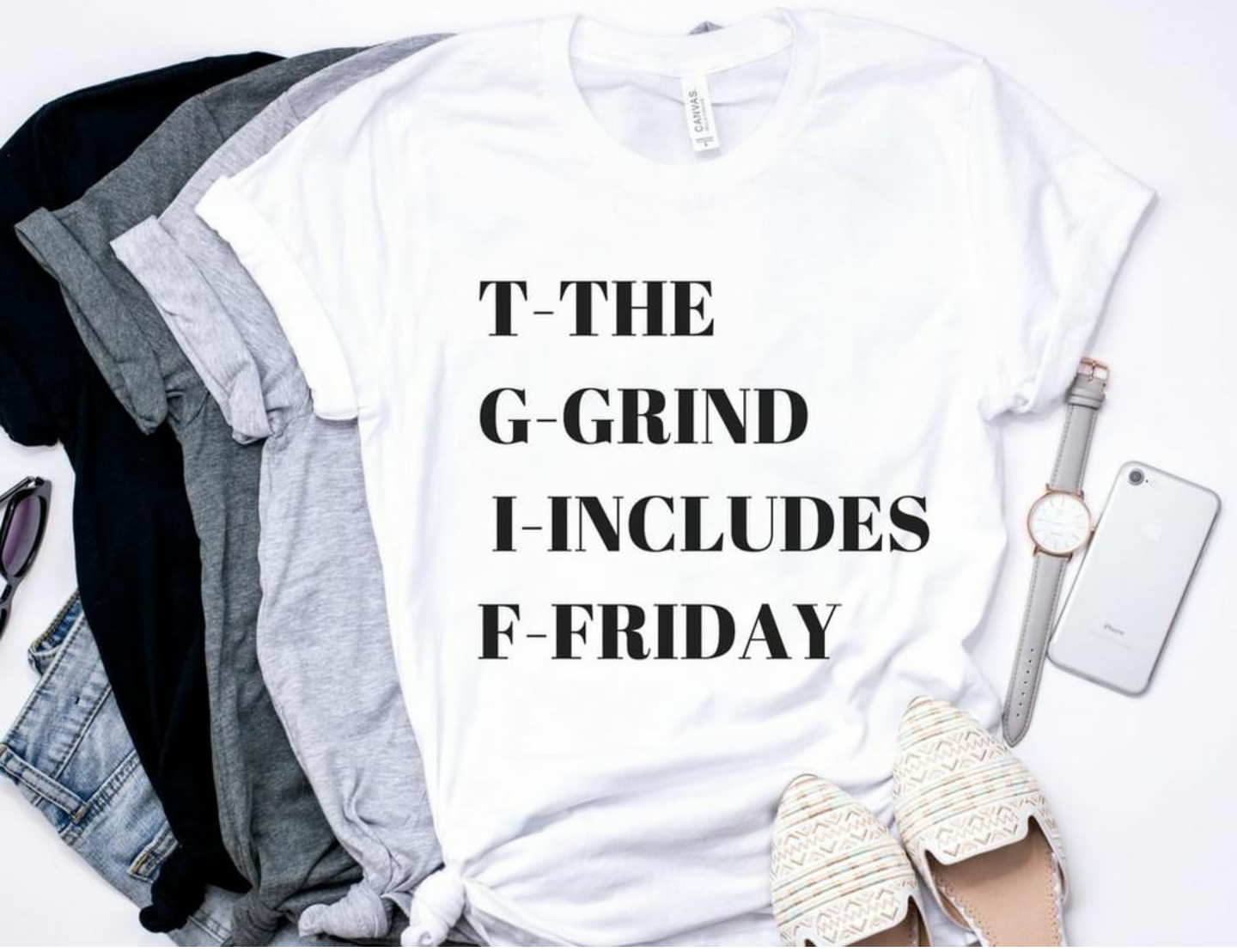 The Grind Includes Friday tshirt