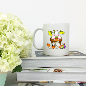 EASTER BUNNY FLOWER POT Standard Mug