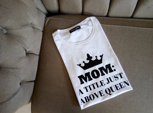 TITLE ABOVE QUEEN LARGE LADYFIT T SHIRT